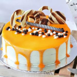 Butterscotch Cake with Chocolate Chips