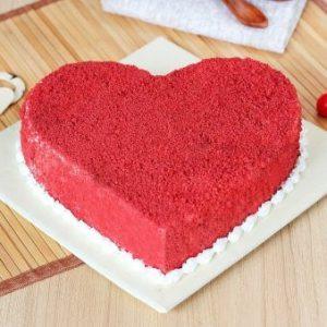 Red Velvet Heart Shape