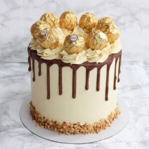 Golden Ferrero Rocher Cake