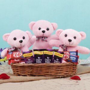 Cute Teddy & Chocolate Hamper
