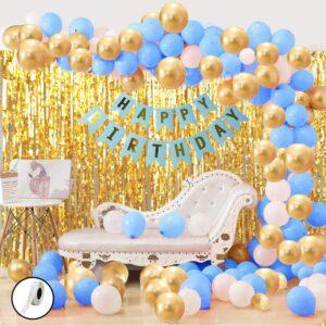 Blue & Golden Birthday Decoration