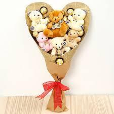 Lovely Teddy Bouquet