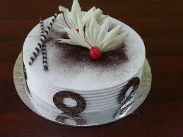 White Forest Cake with Garnish