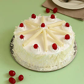 White Forest Cake with White Chocolate